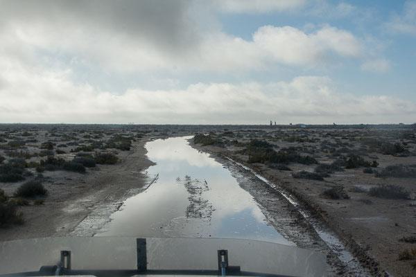 Spuren der heftigen Regenfälle