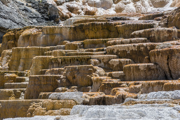 Sinterterrassen in Mammoth Hot Springs