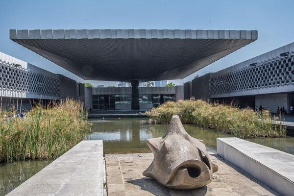 Im Innenhof des anthropologischen Museums