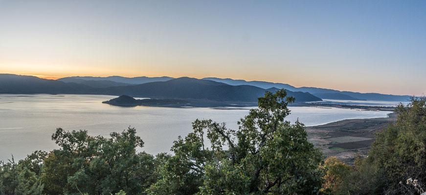 Abendsstimmung am kleinen Prespa See