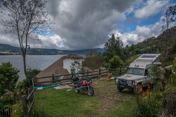Unser Camp an der Laguna de la Cocha