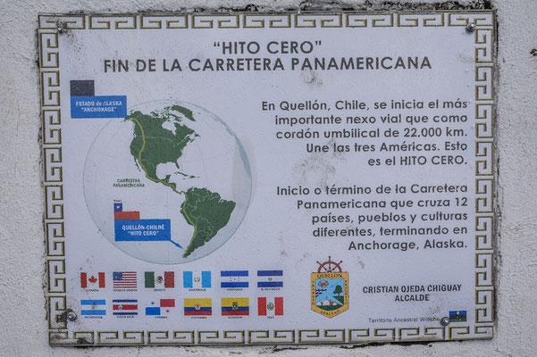 Am Ende/Anfang des Panamerica Highways in Quellon