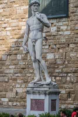 David Statue, Piazza della Signorina, Florenz