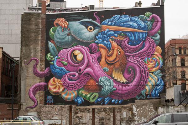 Wandgemälde Down Town HAlifax