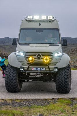 Der etwas höher gelegte Mercedes Sprinter
