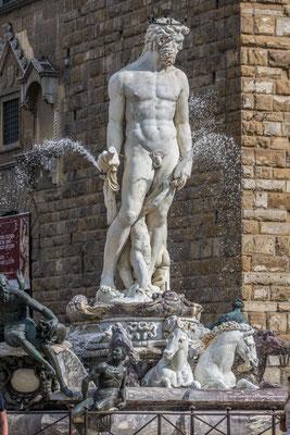 Neptun Statue, Piazza della Signorina, Florenz