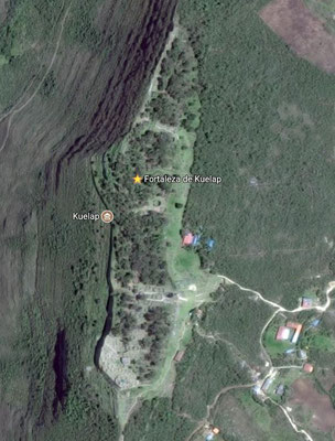 Google Maps Satellitenaufnahme der Ruine Kuelap