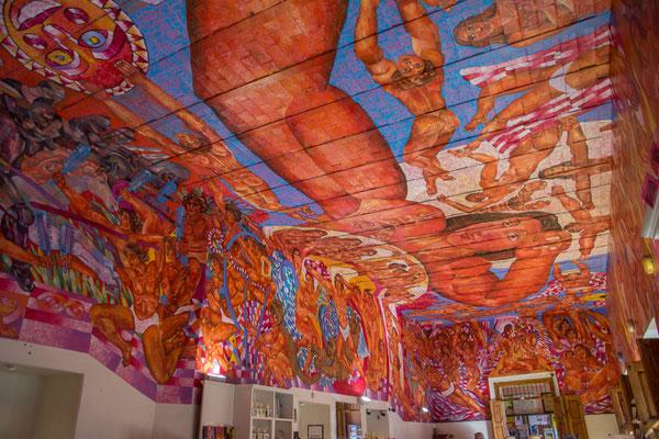 Wandgemälde in der Bibliothek