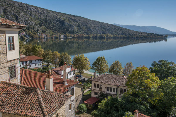 """Aussicht vom """"Villenquartier"""" auf den See"""