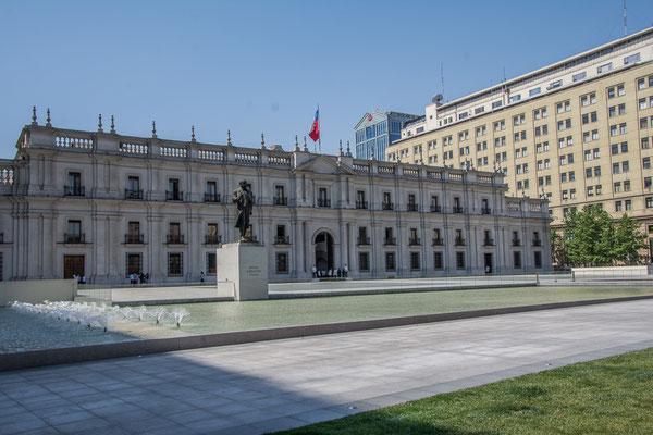 Der Präsidentenpalast La Moneda