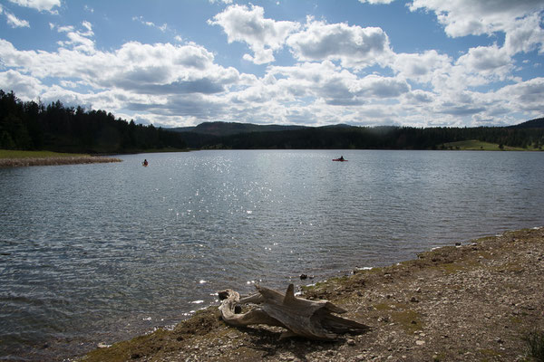 Aussicht von unserem Camp am See