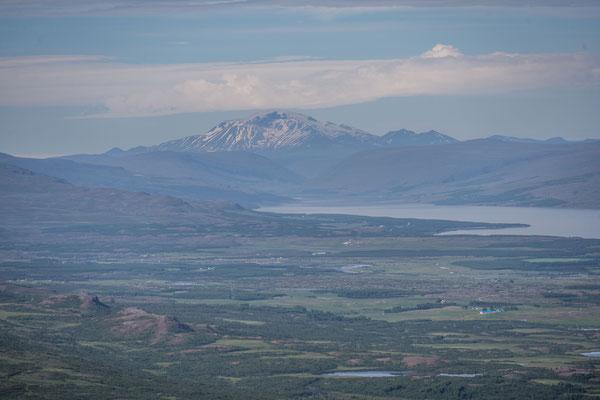 Aussicht hinunter auf Egilsstaðir