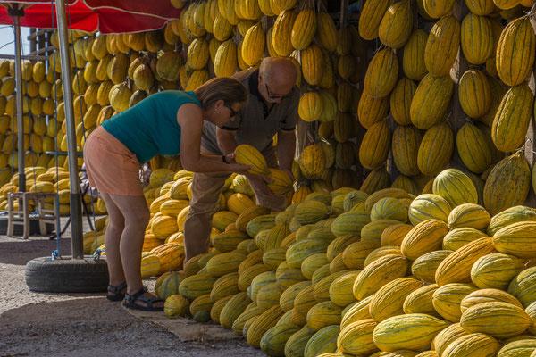 Melonenstand an der Strasse