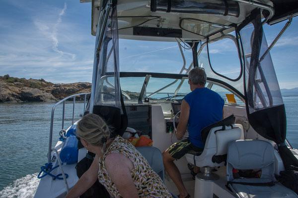 Unterwegs zum Mitlenatch Island