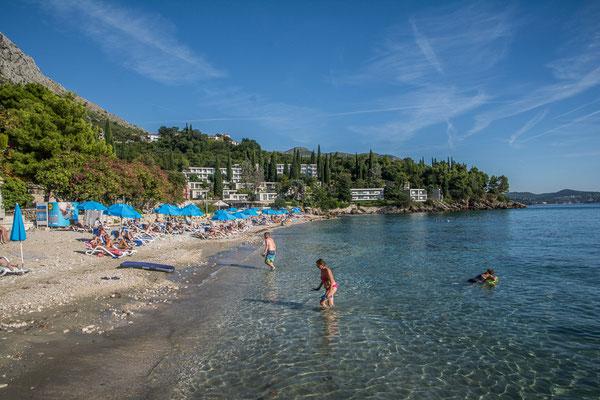 Strand von Mlini, Kroatien