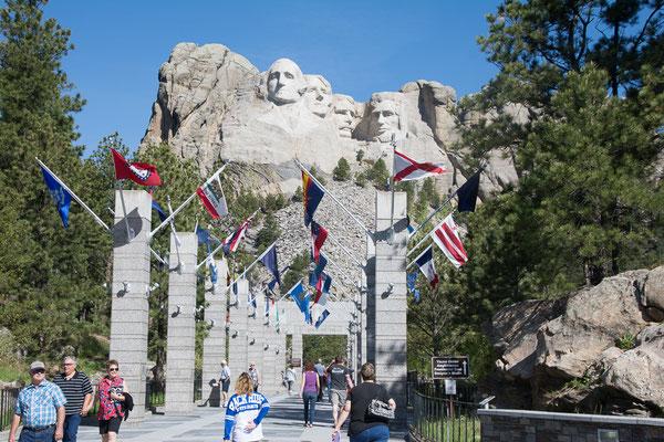 Mount Rushmore, 20 m hohe Porträits