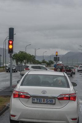 """""""Herzliches"""" Rotlicht in Akureyri"""