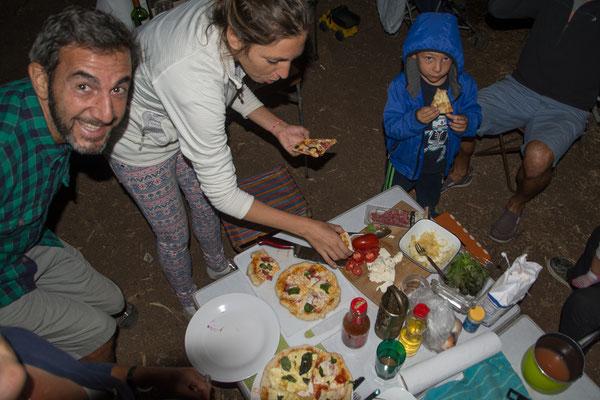 Pizza Party mit unseren Südamerikanischen Freunden