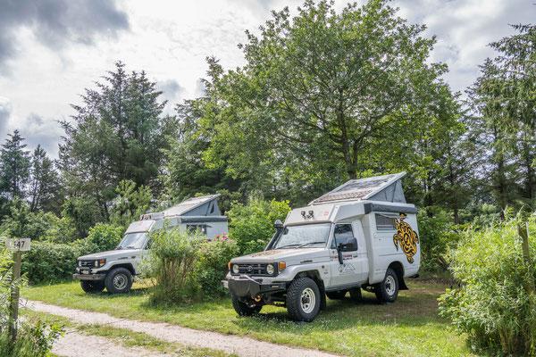 Camping bei Hirthals, gemeinsam mit Ueli und Rita