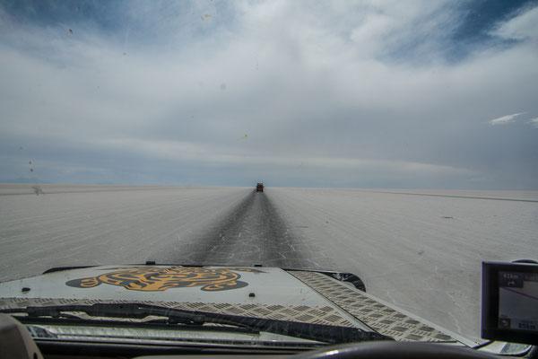 150 km geradeaus