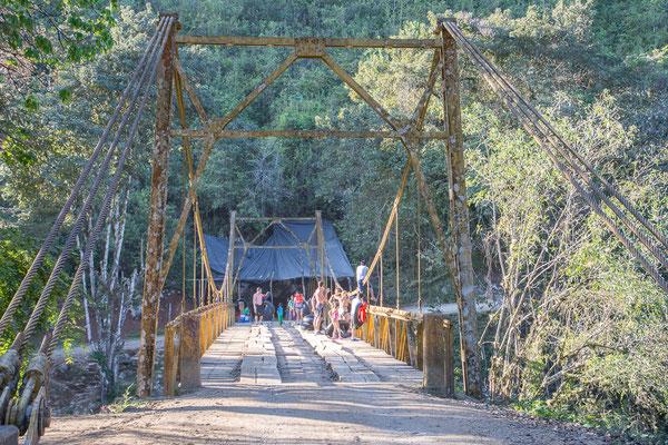 Hängebrücke bei Semuc Champey