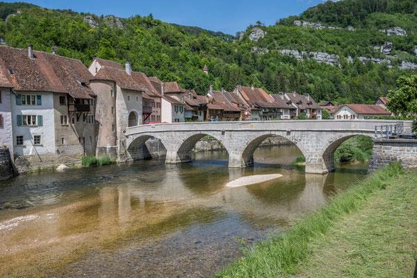 Brücke über den Doubs bei St. Ursanne