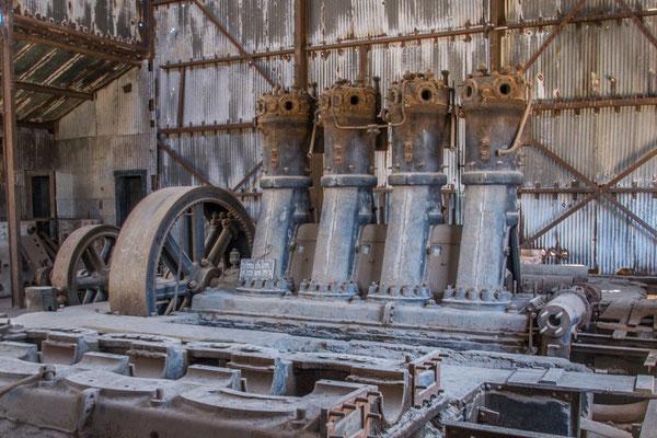 Gute alte Sulzer Motoren sorgten für Strom