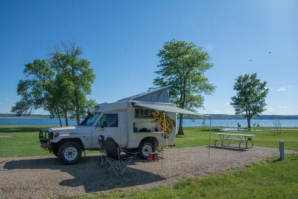 Schöner Camping am gestauten Missouri River