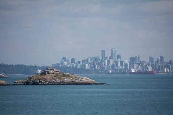 Blick zurück auf Vancouver