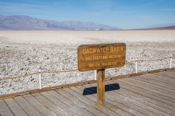 Badwater, tiefster Punkt in den USA