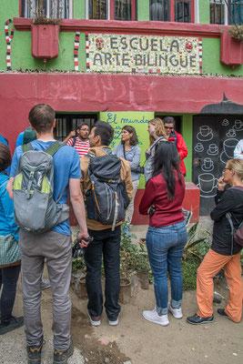 Unser kundiger Führer durch die Gassen von Valparaiso