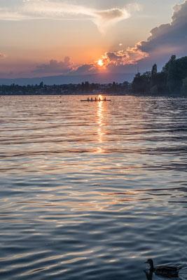 Abendstimmung Genfer See bei Lausanne