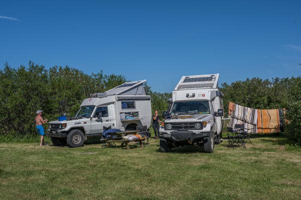 Camping im Asbyrgi National Park