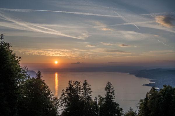 Abendstimmung am Genfer See
