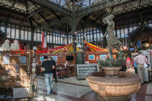 die Markthalle, eine schöne, alte Metallkontruktion