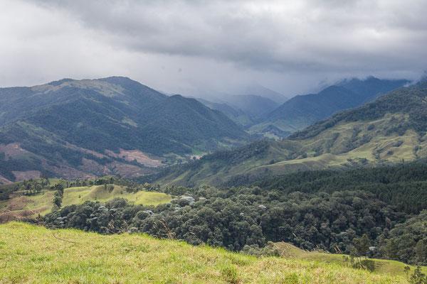 Blick hinunter auf das Valle Cocora