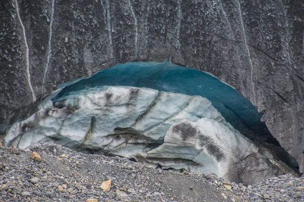 Eisabbruch am Gletscher