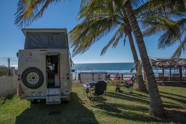Schöner Camping am Meer, nördl. von Mazatlan