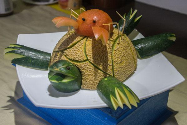 Immer wieder phantastische Dekos von unserem Chef aus seiner Miniküche