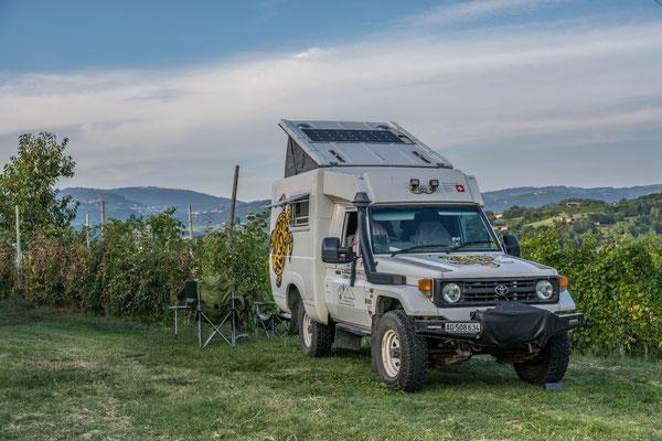 Camping in den Reben bei Breganze