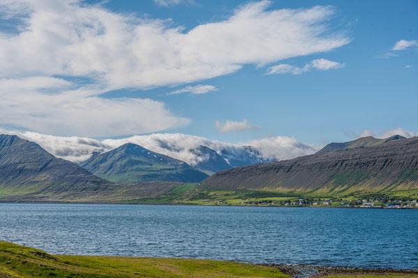 Durch die Berge zur Westfjord Südküste
