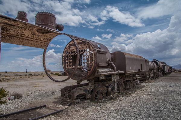 Eisenbahnfriedhof in Uyuni