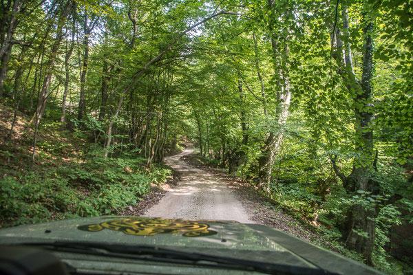 Piste zur Una hinunter, Una National Park, Bosnien und Herzegowina