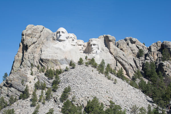 Die vier bedeutendsten Präsidenten des USA in Stein