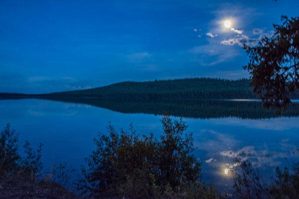 Mondschein am Bobtail Lake