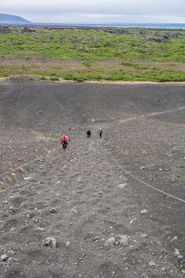 Wanderung auf den Vulkan Hverfjall