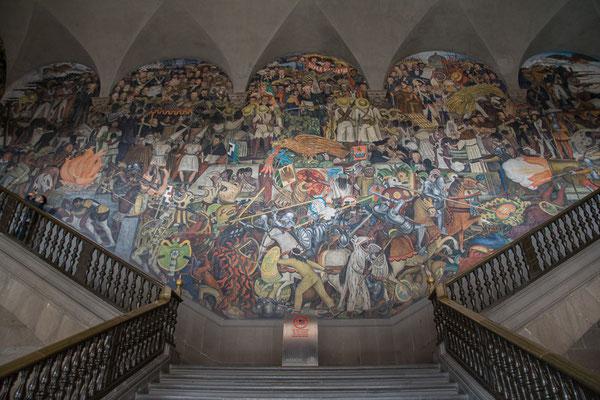 Die Murale von Diego Rivera im Palacio Nacional