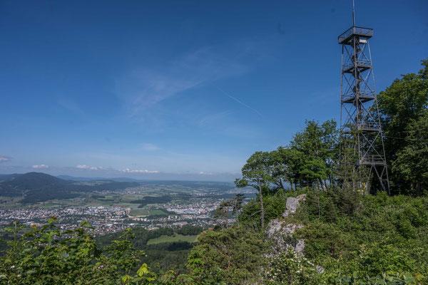 Aussicht vom Gempen über Basel ins Elsass