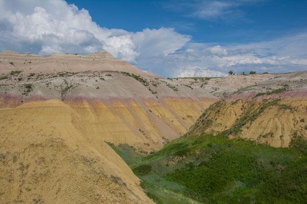 Die tiefste Schicht der Formation besteht aus gelbem Material