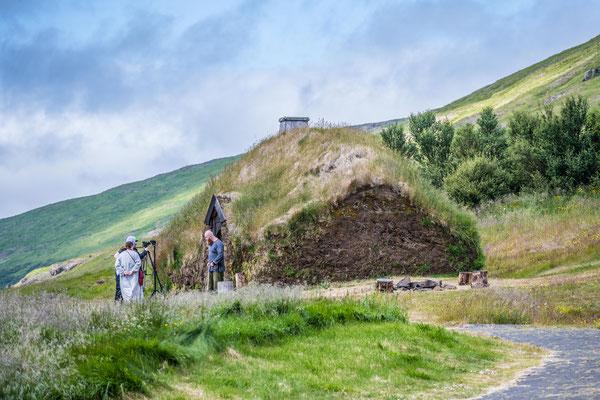 Eiriksstadir, Nachbau eines Vikinger Langhauses
